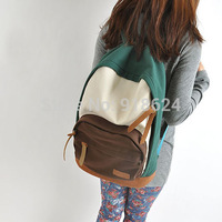 2014 fashion backpack preppystyle middle school students school bag canvas casual backpack