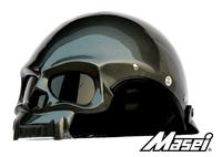 Masei Gray Skull 419 Motorcycle Chopper DOT Helmet For HARLEY DAVIDSON BIKER FREE Shipping Worldwide Free Size Gray