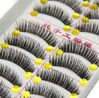 Top Quality black long thick false eyelashes fake eye lashes Y66