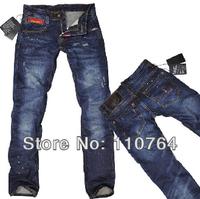 D2 Men Fashion 2014 Wash Causal Jeans Design Straight Dark Blue Jeans DSQ Branded Items Fashion Jean Size 28-36