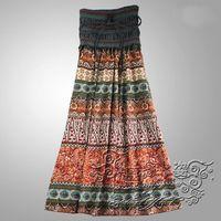 Free shipping 2014 new bohemian dress big swing women  beach girl print dress brand long dress