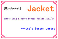 [ML-Jacket] Men's Long Sleeved Soccer Jacket 2013/14 ,Special Link ---Soccer Jacket N98 Jacket -----Joe's Soccer Jersey 2014