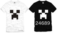 Free Shipping Chinese Size S---XXXL 2014 fashion t shirt game minecraft printed t-shirt cartoon t shirt 100% Cotton 6 color