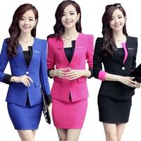 Free Shipping! Women Work wear Slim OL Spring and Autumn Suit Set,Female Formal Fashion Formal Sexy Blazer Suiting S-XXXL