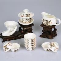 Tea set teaberries set ceramic tea set teacup white porcelain