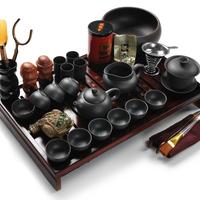 Yixing set kung fu tea set solid wood tea tray set yixing teapot