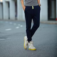 2015 Spring&summer&autumn men's harem pants sweatpants slim fit mens joggers sport trousers top quality 3 colors jogger pants