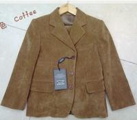 Free shipping 2014 new fashion 5 piece corduroy formal blazers for kids boys 2-13y