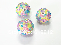 WholeSale !20MM  100pcs/lot Spring Color Mixed  Rhinestone beads