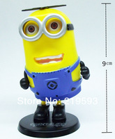 sway Despicable Me 3D Eye Big  Minions Figure car Decoration  9cm  Free Shipping