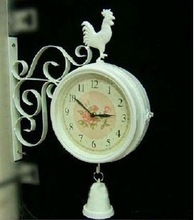 popular wrought iron wall clock