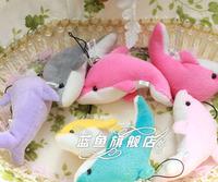 Dolphin mobile phone pendant, trumpet plush toys, gift dolls kids wedding supplies toys for children