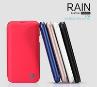 For Samsung Galaxy S5 G900 Nillkin Rain Series Metal Color Flip Cover Leather Case For Galaxy S5 + Screen Film Free Shipping