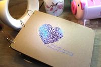 10 inch diy photo album handmade  paste scrapbooking for baby's lovers' s kraft paper  photo presented 102pcs  corner posts