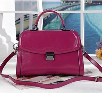 2014 New High Quality Cowhide Genuine Leather Handbag Womens Fashion Tote Shoulder Messenger bag 3 Colors