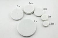 DIY Hair Flower flat back 2.5cm 3cm 4cm 5cm 6cm 8mm Round Felt accessory patch White Color circle felt pads,DIY flower material