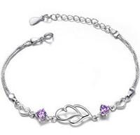S925 dcrv pure silver bracelet amethyst bracelet female bracelet 1
