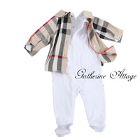 Newborn unisex Spring&Autumn kids brand fashion baby boy girl romper clothing plaid knitted jumpsuits children's clothes