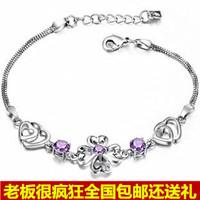 925 pure silver bracelet lucky four leaf clover bracelet fashion silver jewelry female birthday gift