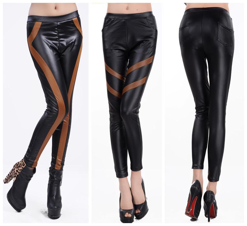 2013 fashion plus size faux leather leggings for women. Black Bedroom Furniture Sets. Home Design Ideas