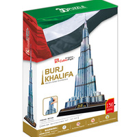 Promotion Gift Cubic Fun 3D Puzzle Toys Burj Khalifa (Dubai) Model DIY Puzzle Toys MC133h For Children's Gift