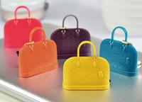 10pcs/lot Fashion candy Silicon handbags purse Classic Bag Dust Plug Earphone Ear Cap Dock 3.5mm Jack Plug for iPhone 4S 5S