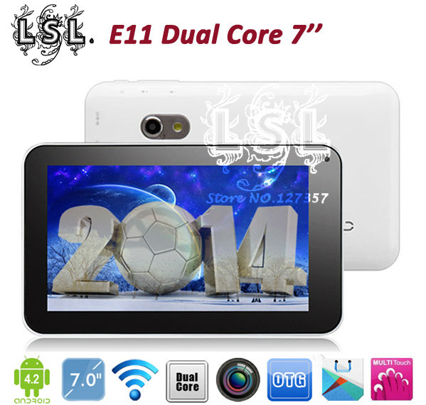 7 inch tablet pc Allwinner A20 Dual Core android 4.2 512MB 4GB Dual camera 2MP Flash light WiFi HDMI External 3G USB OTG(China (Mainland))