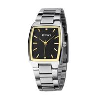 Brand Eyki Fashion Watch Men Square Watches Golden Analog Pointer Design Hot Sale Russia Free ship Promotion