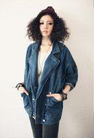 2014 new  loose Denim Jackets Patchwork Outwear Jeans Coat Classical Jackets Women Jeans coats  the female Jean jacket  917