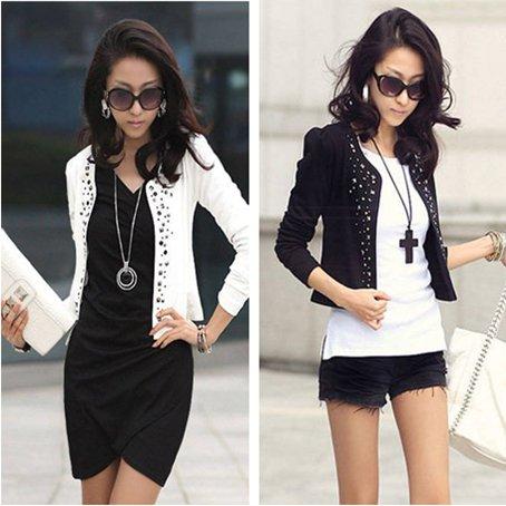 2015 new hot Fashion Cozy women clothes Shawl Coat Comfortable leisure slim Wild suit Ms. jacket lady coat(China (Mainland))