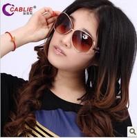 Women's sunglasses big box fashion vintage sunglasses all-match large sunglasses glasses