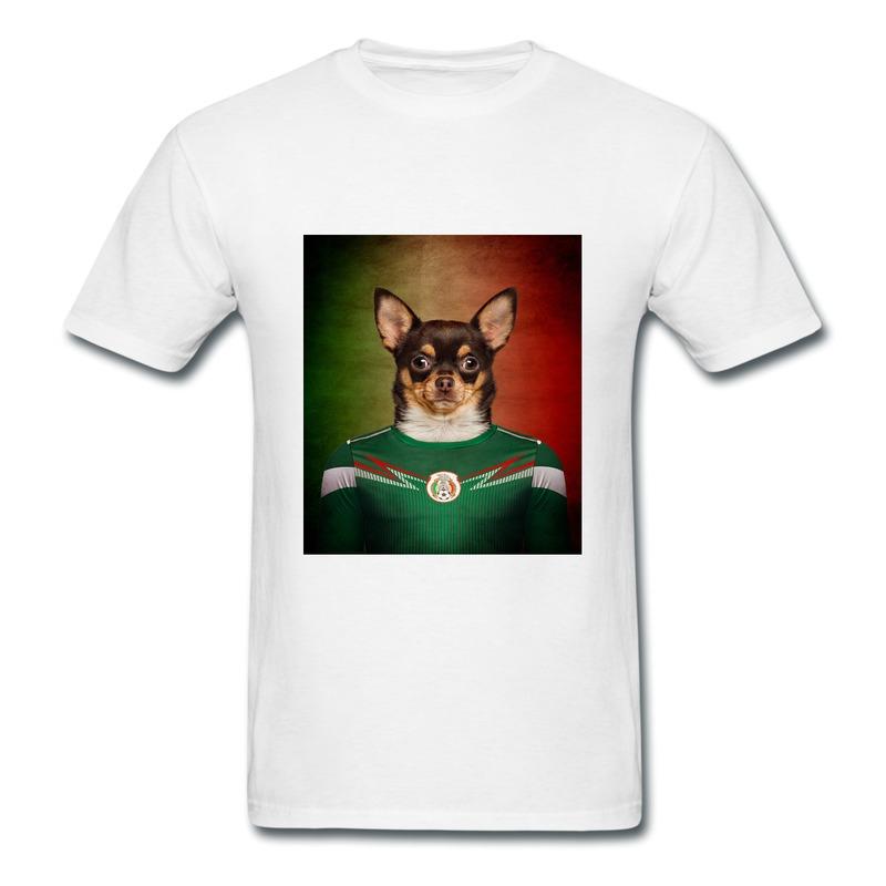 Unique Design Round Neck T Shirt Boy 2014 Brazil World Cup Dog Mexico Chihuahua Personalize T shirts Men 100% Cotton(China (Mainland))