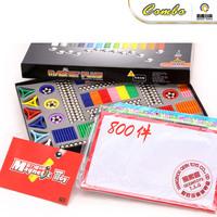 Free Shipping 5 magnetic stick intelligence toys birthday gift magnet assembling building blocks magnet