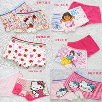 Classic Female Children KT  Print Four Angle Panties Children's Underwear Cartoon Panties