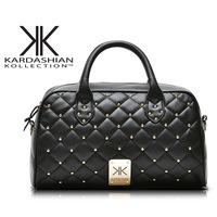 fashion high quality handbags Kardashian kk plaid rivet shoulder bag handbag messenger bag women's handbag work bags WM92