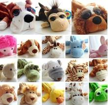 Cute Cartoon Pencil Pen Case Bag Dog Monkey Cow Rabbit Bear Yellow Duck 20 Kinds Option Best Gift For Kids Cheap Free Shipping(China (Mainland))