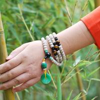 Dry bodhi brightness 108 barrel beads bracelet necklace rosary beads