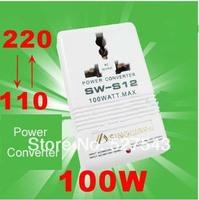 Free shipping 100W 220V-110V transformer two-way power electricity converter AC adaptor transformer