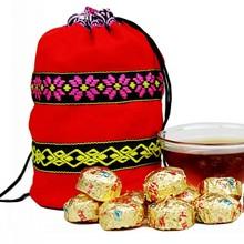 Pu er tea, Pu'er teaChinese tea Quality gold flavor cooked trees puer cooked tea mini tuo tea 50 bags  Free Shipping
