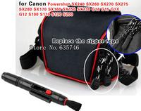 2in1 Lens Cleaning Pen Lens pen+Camera Case Bag for Canon SX240/SX260 SX270/SX275/SX280/SX170 SX160 SX150 SX130/G15 G1X G12/S100