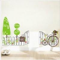 Bicycle fence sofa tv wall tijuexian waistline stickers decoration sticker