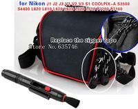 2 in1 Lens Cleaning Pen Lens pen+Camera Case Bag for Nikon J1/J2/J3/V2/V3/S3500 S4400 L820 L810 L620 L620 L320 L310 P7700 P7100