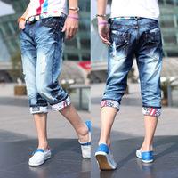2014 summer men denim shorts men's jeans shorts hot sale men short jeans Denim Pants with   Casual Short SF-K88