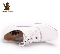 Fashion casual women's shoes casual shoes small white shoes leather genuine leather flat single shoes female 051