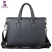 20114 genuine leather man bag business casual shoulder bag handbag briefcase  totes