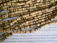 5strands/lot 5mm Natural Coconut Shell Beads Disc Wood Spacer Beads 22 7/8'' Long