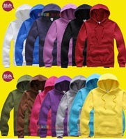 500g Solid color fleece hoodies  autumn and winter pullover for man, woman, family sweatshirt men leisure clothing