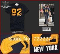 New 2014 Men's T Shirt Print Sewing Short Sleeve Cotton T-shirts Male Quality Fashion Brand Design Slim Tshirt For Men TT6864X