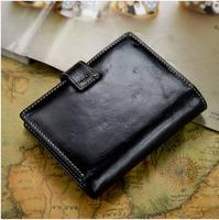 Genuine leather women's short design wallet women's wallet lovers cowhide 51130 coin purse