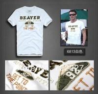 New 2014 Men's T Shirt Print Sewing Short Sleeve Cotton T-shirts Male Quality Fashion Brand Design Slim Tshirt For Men TT6813X